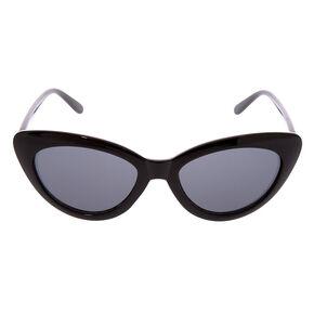 Retro Cat Eye Sunglasses - Black,