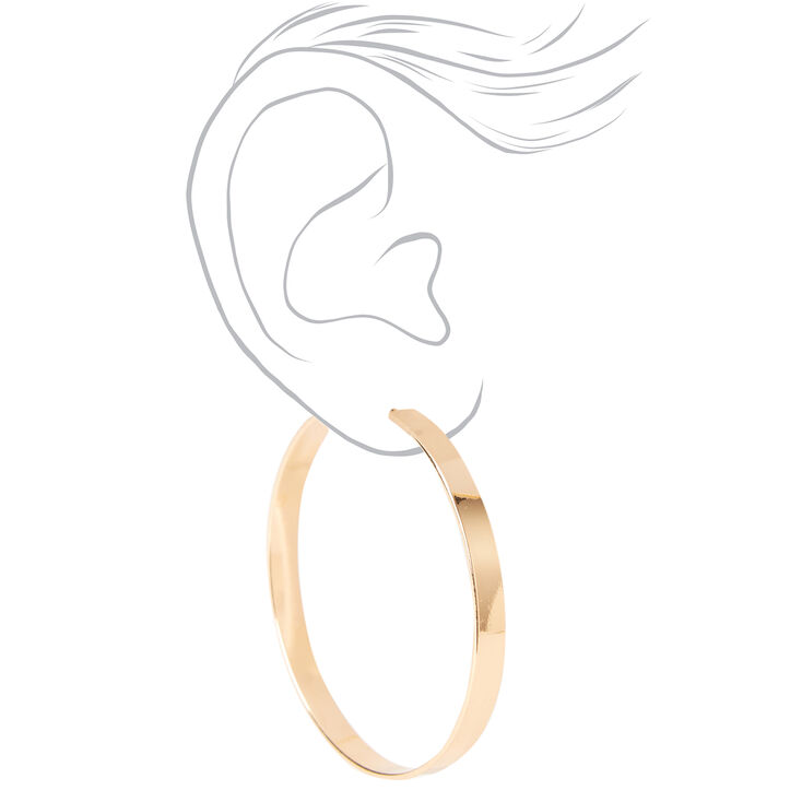 Gold 40MM Thick Hoop Earrings,