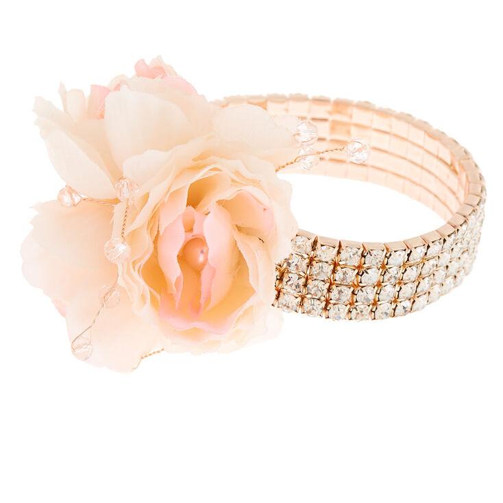 Rose Gold Rhinestone Corsage - Pink,