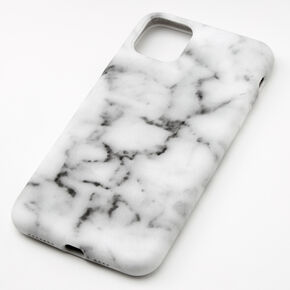 White Marble Protective Phone Case - Fits iPhone 11 Pro Max,