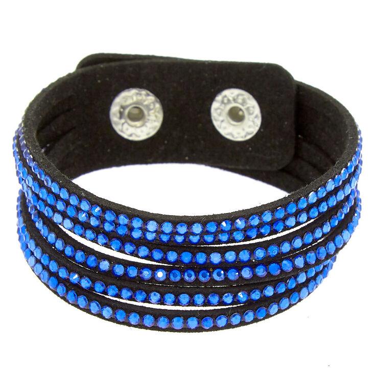 Studded Layered Wrap Bracelet - Cobalt Blue,