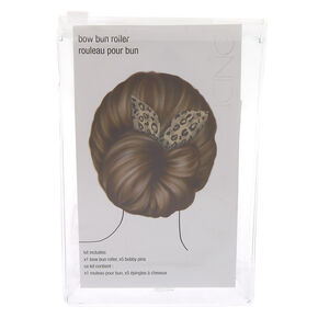 Leopard Bow Bun Roller Hair Tool Kit,
