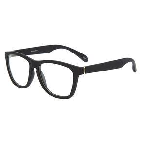 Matte Retro Clear Lens Frames - Black,