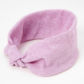 Ribbed Knotted Headwrap - Lilac,
