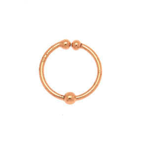Rose Gold Sterling Silver Classic Faux Nose Ring,