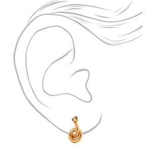Gold 15MM Tube Hoop Earrings,