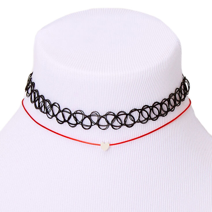 Valentine's Day Choker Necklaces - 2 Pack,