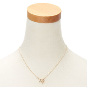 Gold Zodiac Constellation Pendant Necklace - Virgo,