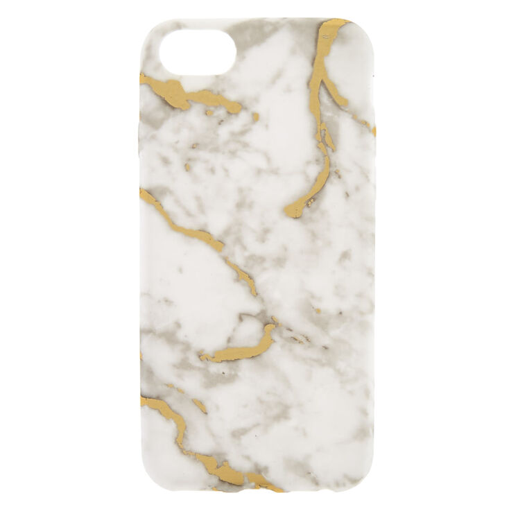 White + Gold Marble Phone Case - Fits iPhone 6/7/8,