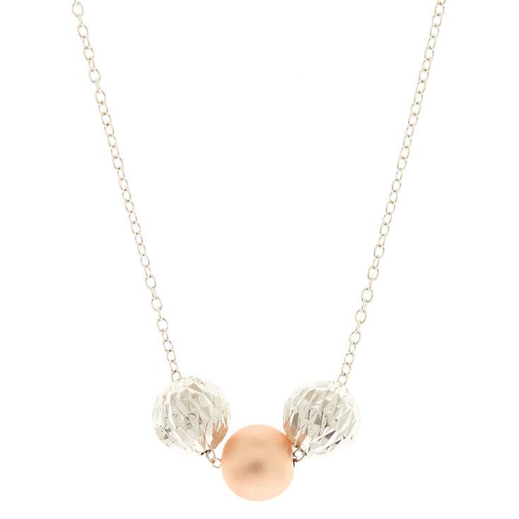 Three Bead Pendant Necklace,
