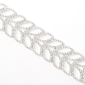 Silver Rhinestone Mermaid Tail Chain Bracelet,