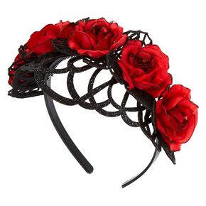 Flower Crown Headband - Red,