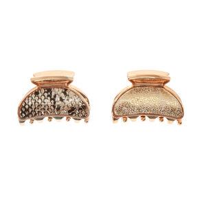 Gold Snake Mini Hair Claws,