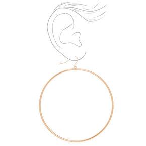 Gold 80MM Hoop Drop Earrings,
