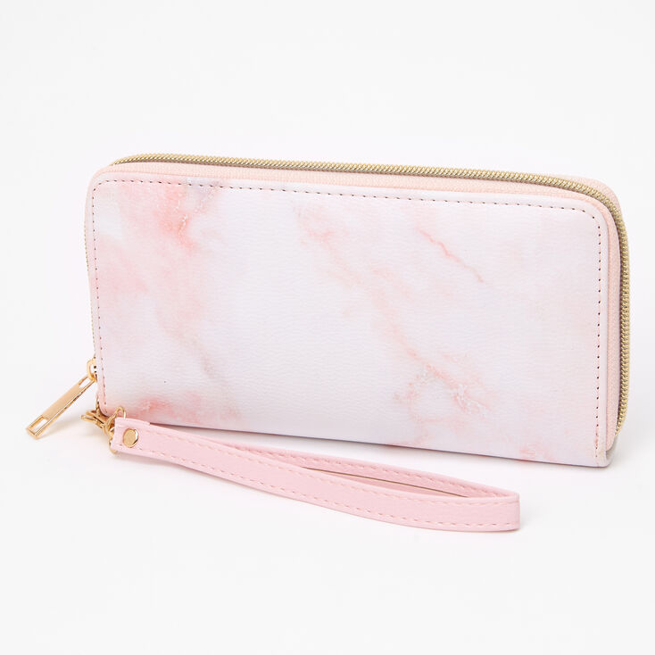 Pink Marble Wristlet,