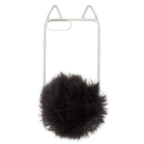 Black Cat Pom Phone Case - Fits iPhone 6/7/8 Plus,