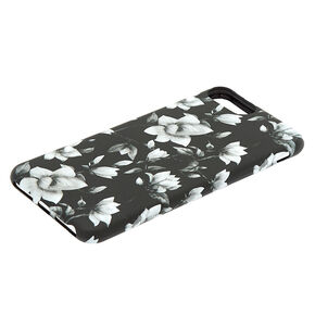 Black & White Floral Phone Case - Fits iPhone 6/7/8 Plus,