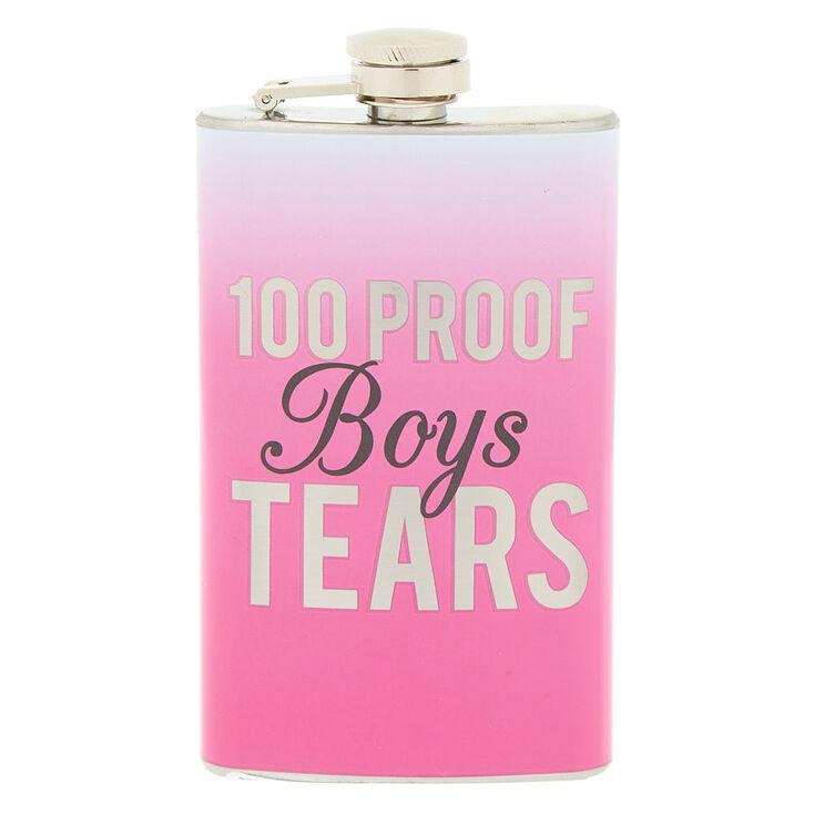 100 Proof Boys Tears Flask - Pink,