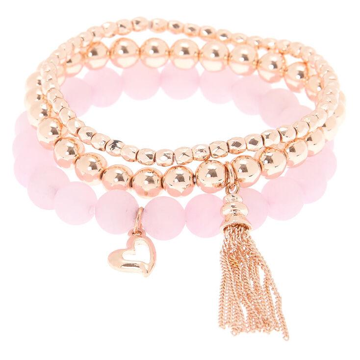 Compassion Fortune Stretch Bracelets - Pink, 3 Pack,