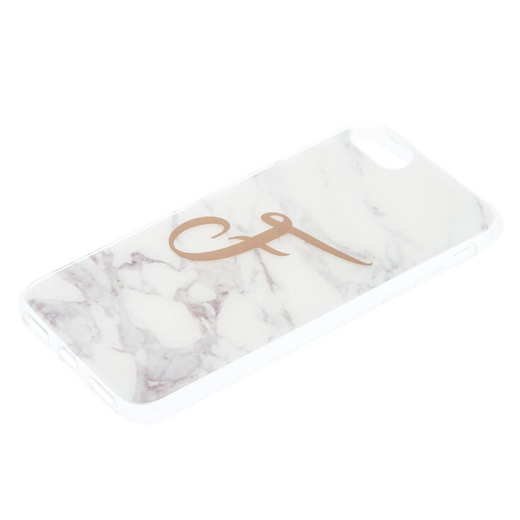 Marble F Initial Phone Case - Fits iPhone 6/7/8,