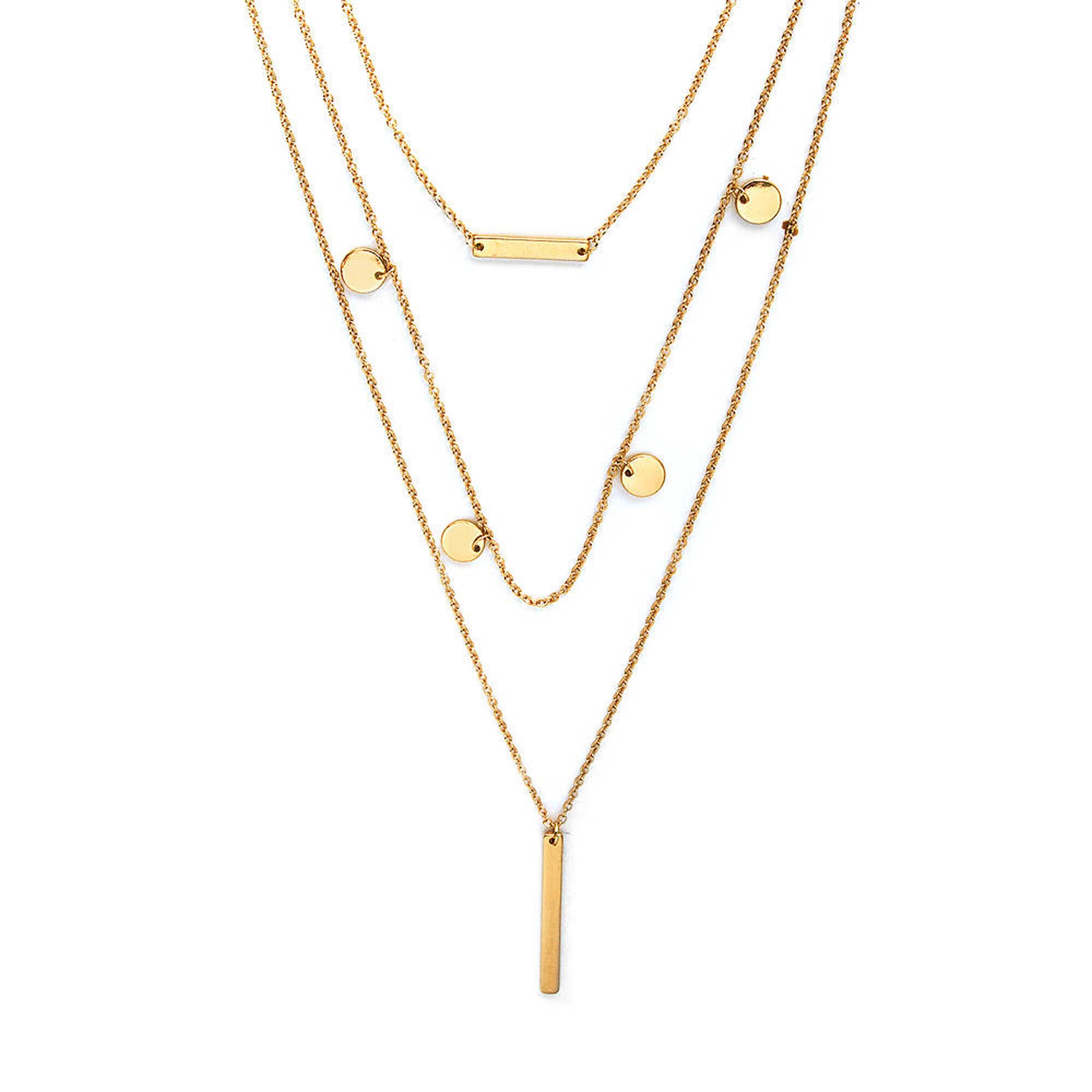 jewellery women p s long vertical pendant gold on carousell bar double necklace fashion