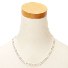 Silver Link Chain Necklace,