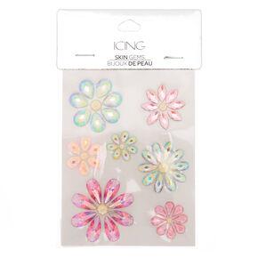 Iridescent Flower Skin Gems - Pink,