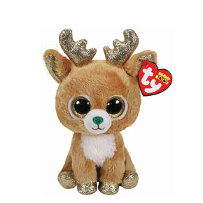 Ty Beanie Boo Small Glitzy the Reindeer Plush Toy,