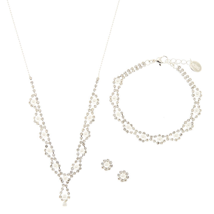 3 Piece Pearl & Crystal Set,