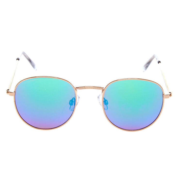 Round Sunglasses - Gold,