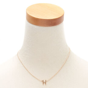 Gold Initial Necklace - H,