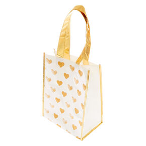 Golden Hearts Reusable Tote Bag,