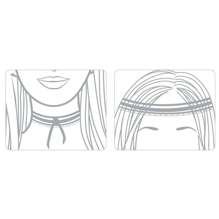 White Faux Pearl & Black Chiffon Choker Headwrap,