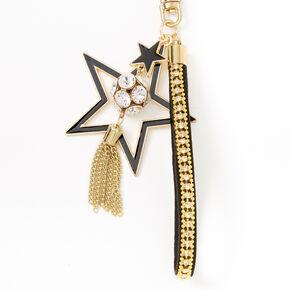 Stars & Tassel Keychain - Black,