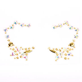 Iridescent Golden Star Eye Gems,