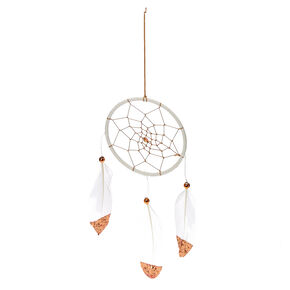 Rose Gold + White Dream Catcher,