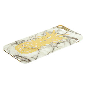 Marble Pineapple Phone Case - White,