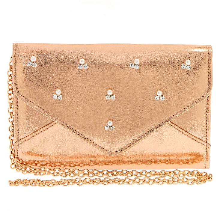 Rose Gold Clutch Purse