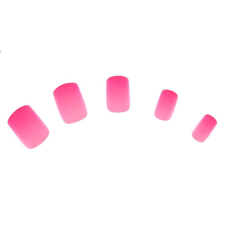 Ombre Matte Faux Nail Set - Pink, 24 Pack,