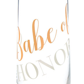 Babe of Honor Stemless Champagne Glass,