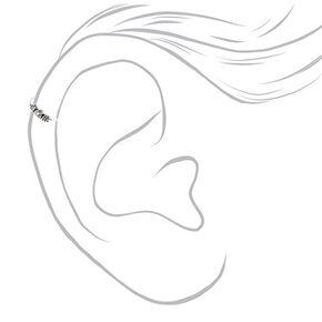 Sterling Silver 22G Coiled Cartilage Hoop Earrings - 3 Pack,