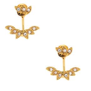18kt Gold Plated Leaf Ear Jacket Earrings,