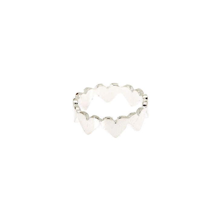 Silver Heart Midi Ring,