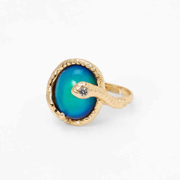 Gold Wrap Snake Oval Mood Ring,