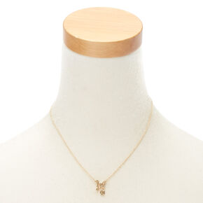 Gold Zodiac Pendant Necklace - Leo,