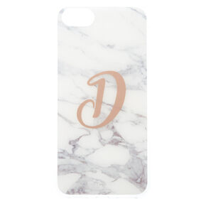 "Marbled ""D"" Initial Phone Case,"
