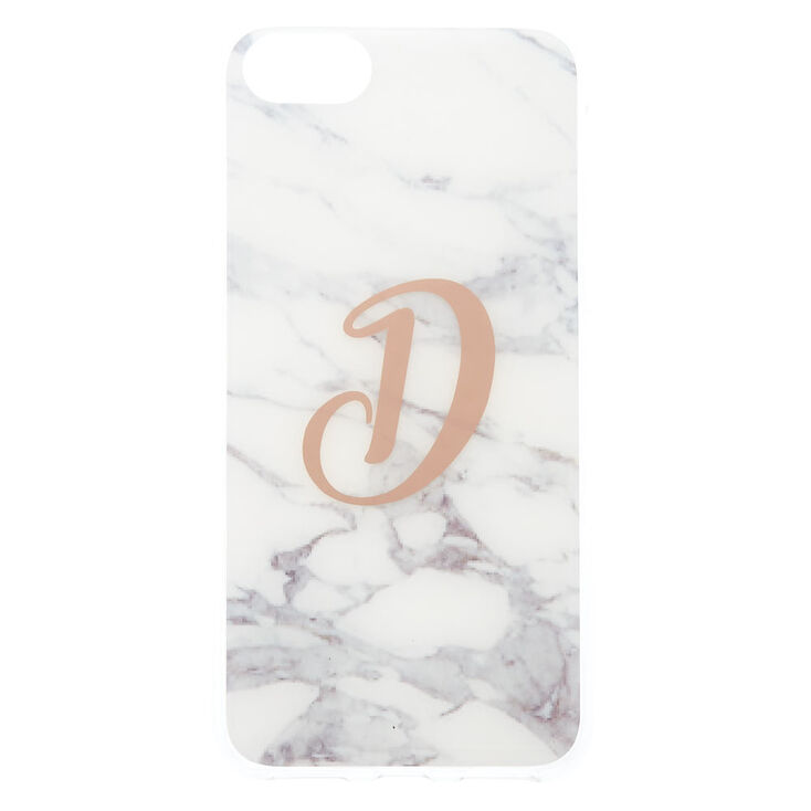 "Marble ""D"" Initial Phone Case,"