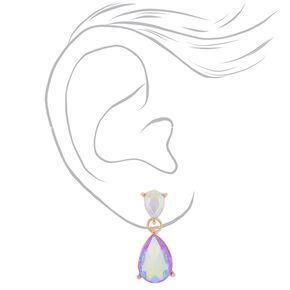 Iridescent Lilac Teardrop Drop Earrings,