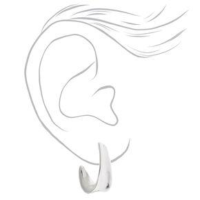 Silver 20MM Flat Hoop Earrings,
