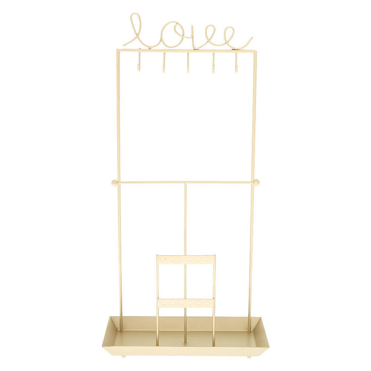 Love Standing Jewelry Holder - Gold,